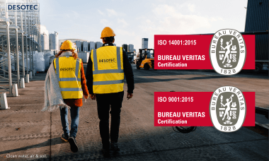 DESOTEC certification for ISO9001 and ISO14001