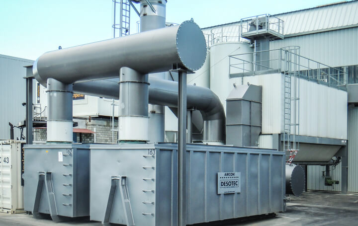 Aircon H-filters to preventy odour emission