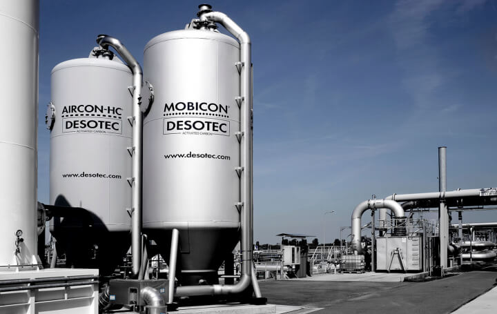 mobile filters for treatment of waste water and polluted air