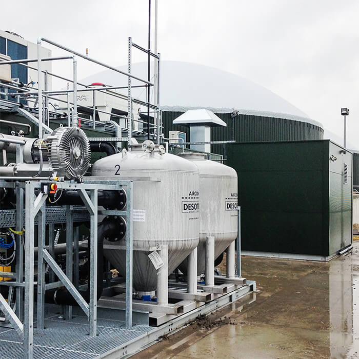 Biogas treatment