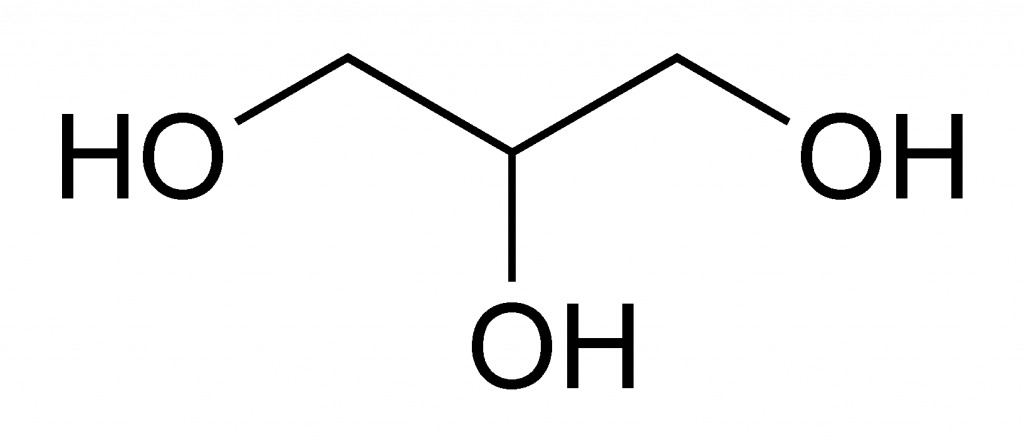 Glycerine from biodiesel: glycerine chemical structure